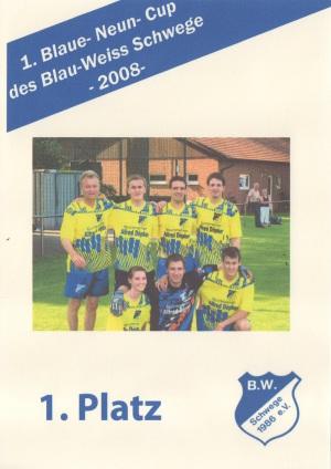 Sieger 1.Blaue Neun Cup BW Schwege