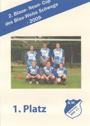 Sieger 2.Blaue Neun Cup BW Schwege