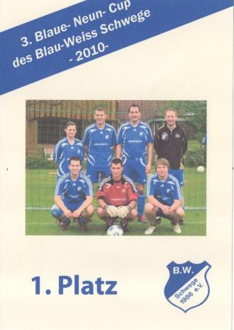 Sieger 3.Blaue Neun Cup BW Schwege