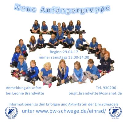 Einrad_Anfaengergruppe_2017_BW_Schwege